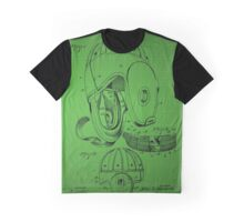 Football Helmet Patent  From 1927 - Green Graphic T-Shirt