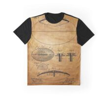 Football Patent Drawing From 1903  Graphic T-Shirt