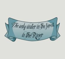 The only water in the forest is the River by Rosemary  Scott - Redrockit
