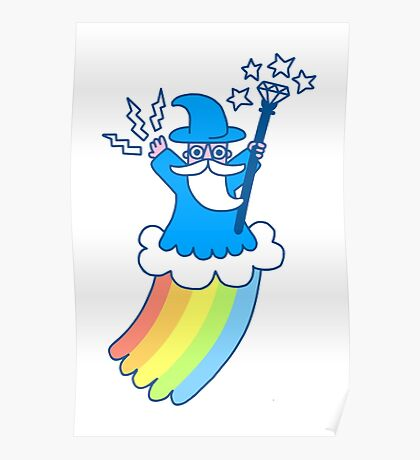 Rainbow Wizard Poster