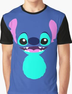 Happiness in Blue Graphic T-Shirt