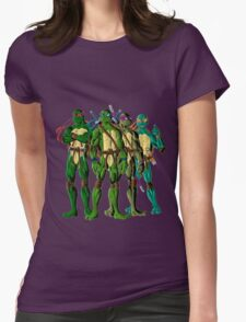 I Love Being A Turtle Womens Fitted T-Shirt