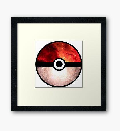Galaxy Pokeball Framed Print