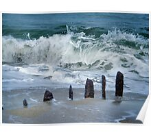 the coast of the north sea Poster