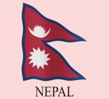 Nepali flag by stuwdamdorp