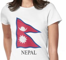 Nepali flag Womens Fitted T-Shirt
