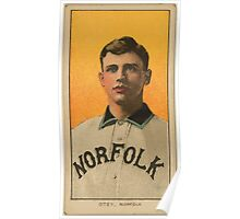 Benjamin K Edwards Collection William Otey Norfolk Team baseball card portrait Poster