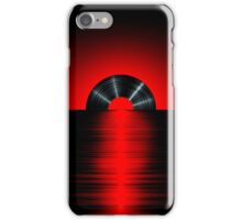 Vinyl sunset red iPhone Case/Skin