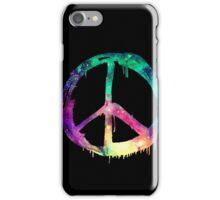 Galaxy Graffiti Peace Symbol iPhone Case/Skin