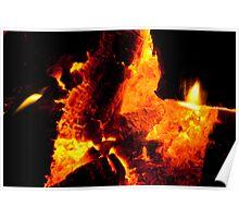 Fiery coals Poster