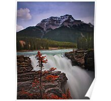 Athabasca Falls on Bow River, Alberta Canada Poster