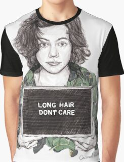 Long Hair, Don't Care Graphic T-Shirt