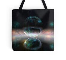 Iridescent bubbles in the darkness of airless caverns Tote Bag