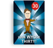 Doctor Who Card - with age 30 (2) Canvas Print