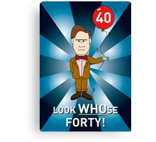 Doctor Who Card - with age amended Canvas Print