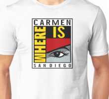 Where is Carmen? Unisex T-Shirt