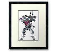Transformers Pretender Bomb Burst  Framed Print
