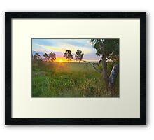 Sunset at Ballarat, Vic, Australia Framed Print