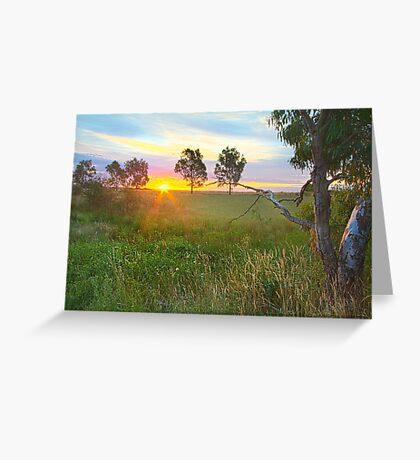 Sunset at Ballarat, Vic, Australia Greeting Card