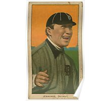 Benjamin K Edwards Collection Hughie Jennings Detroit Tigers baseball card portrait 002 Poster