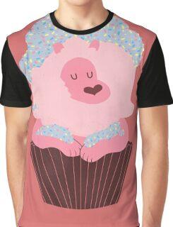 Cupcake Lion Graphic T-Shirt