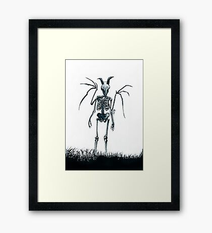 The Jersey Devil Is My Friend Framed Print