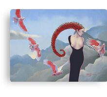 The Flight of Pink Canvas Print