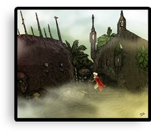 Dark Jungle Ruins Canvas Print