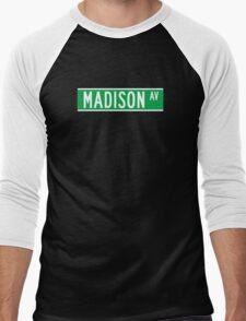 Madison Av., Street Sign, New York, USA Men's Baseball ¾ T-Shirt