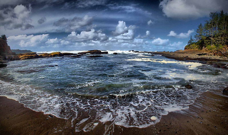 Boiler Bay by Charles & Patricia   Harkins ~ Picture Oregon