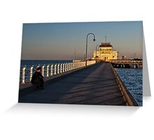 Coffe House at St. Kilda Beach Greeting Card