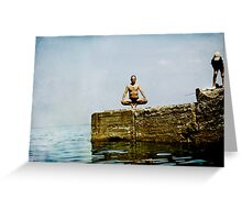 Yoga by the sea Greeting Card