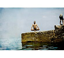 Yoga by the sea Photographic Print