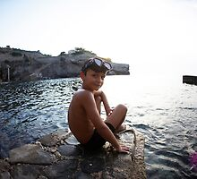 Kids in the beach, Mallorca by Wari Om  Yoga Photography