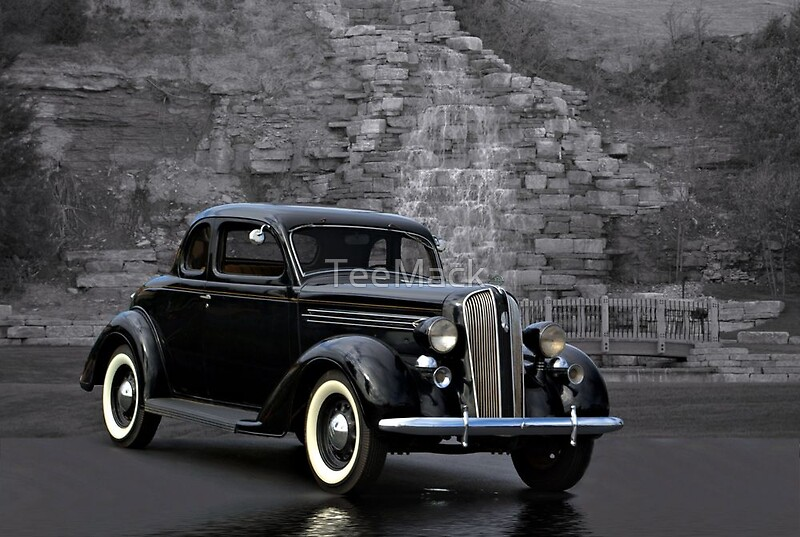 1936 plymouth 2 door coupe framed prints by teemack for 1936 plymouth 2 door sedan