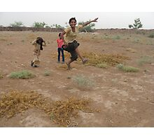 Desert games Photographic Print