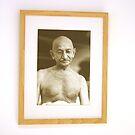 Gandhi  by Wari Om  Yoga Photography