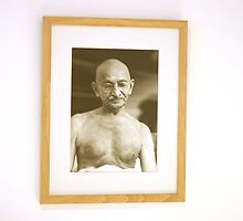 Gandhi  by Wari Om  Yoga Photography