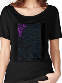 USGS Topo Map Washington State WA Whiskey Dick Mtn 244642 1966 24000 Inverted Women's Relaxed Fit T-Shirt