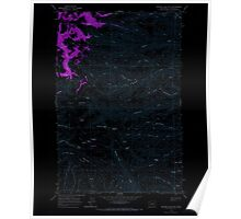 USGS Topo Map Washington State WA Whiskey Dick Mtn 244642 1966 24000 Inverted Poster