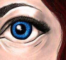 Behind blue eyes  by RiannAmelia