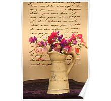 Garden flowers Poster