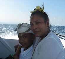 Boy and mother in Bali by MihrimahGhaziya