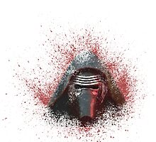 Kylo Ren Paint Splatter  by pklighting