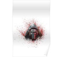 Kylo Ren Paint Splatter  Poster