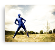 A Day in Blue Zentai lomo 01 Canvas Print