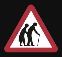 Elderly People (I), Traffic Sign, UK Kids Tee