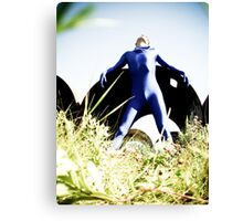 A Day in Blue Zentai lomo 03 Canvas Print