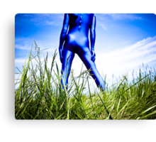 A Day in Blue Zentai lomo 04 Canvas Print