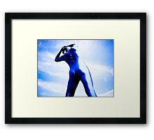 A Day in Blue Zentai lomo 05 Framed Print